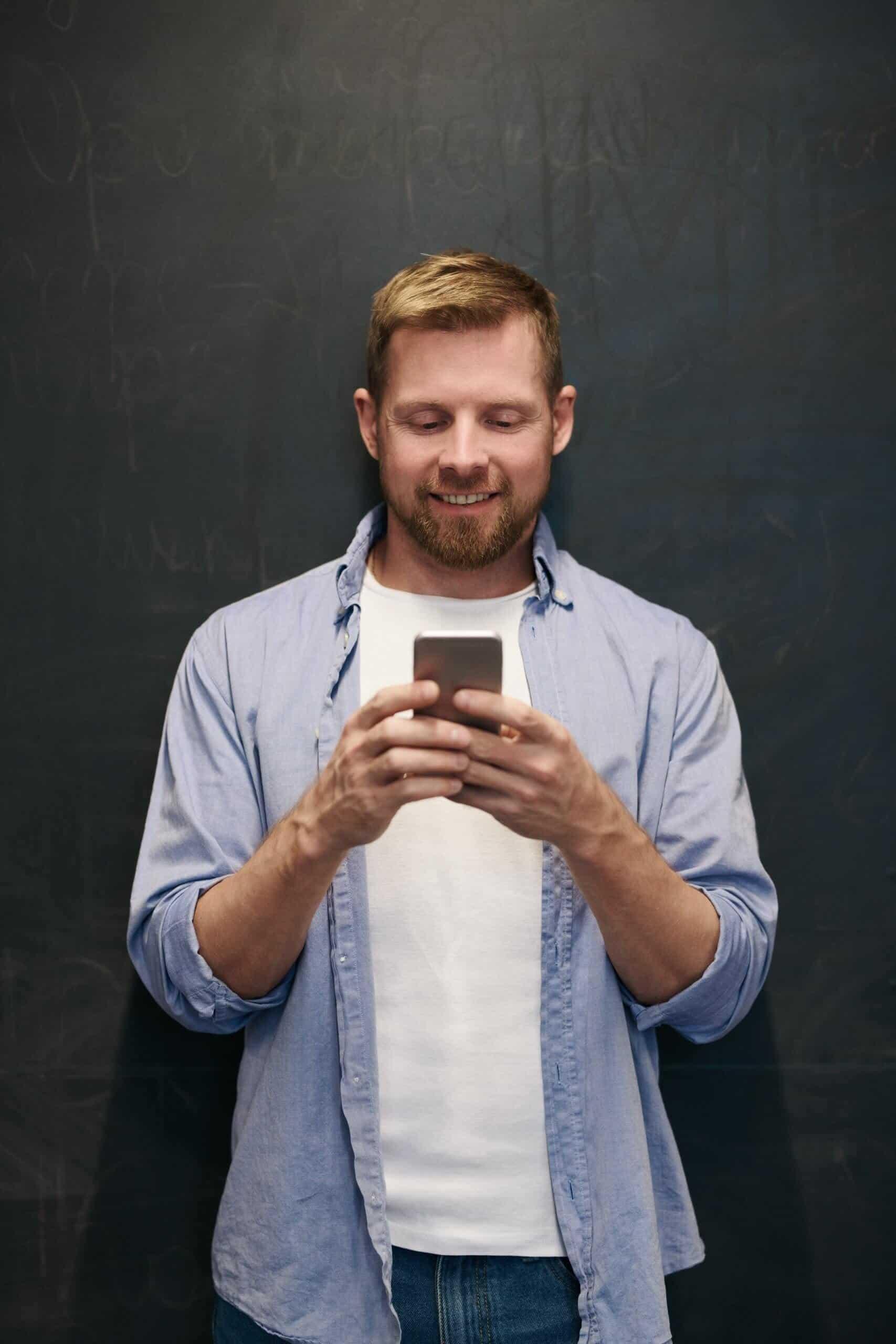 Man using GP video app